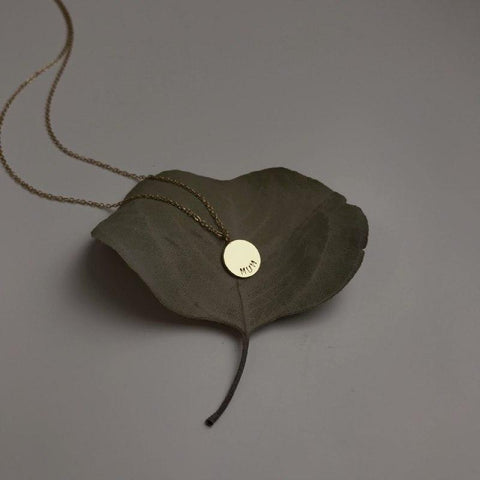 Sample Sale: Magnolia Disk Necklace (collab with Papercranes Design)