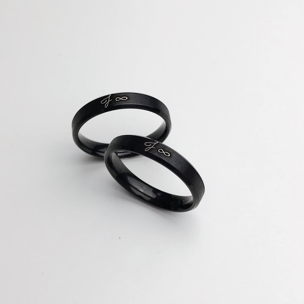 Lumière Classic Bevelled Ring (Laser Engraved) 1 Ring
