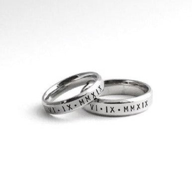 Lumière Bevelled Couple Rings (2 Rings)