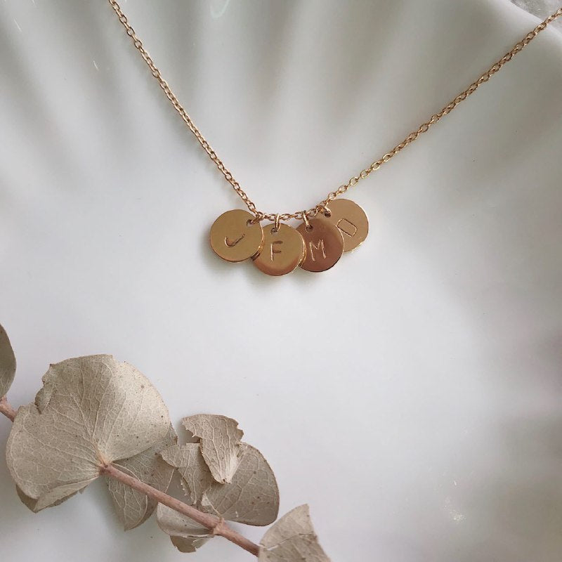 Lea Initial Disk Necklace