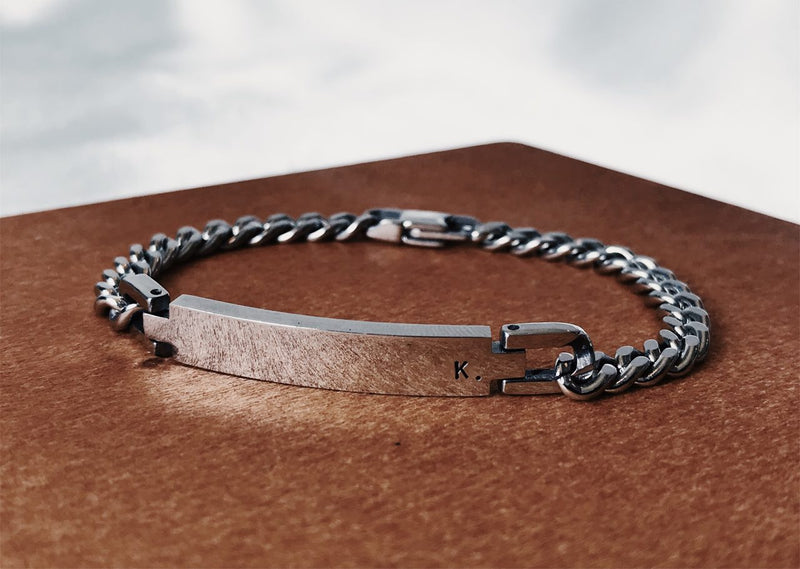 Judah Steel Curb Chain Link Bracelet