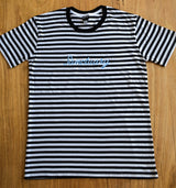 'Signature' Striped Tee - Embroided Logo