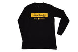 'Signature' Long Sleeve - Black/Mustard