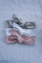 WOMANS FRENCH LINEN TOPKNOT HEADBAND