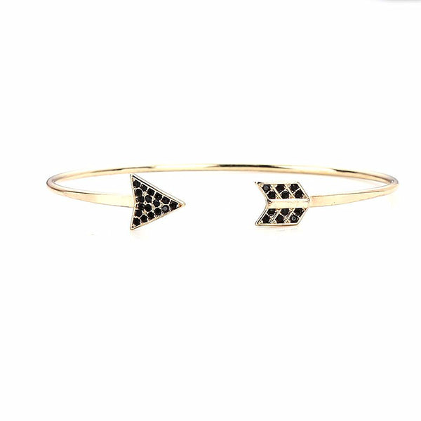 Black Crystal Arrow Cuff Bangles (Free+Shipping)