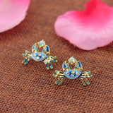 Blue Crab Earrings (Free+Shipping)