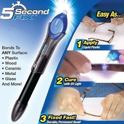 5 Second UV Light Fix Liquid Pen Glass Welding Compound Glue Repair Tool