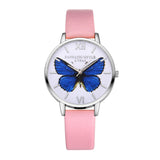 Luxury Women Leather Butterfly Bracelet Watch (Free+Shipping)