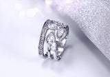 Gold and Rhodium plated with White CZ Fashion Rings