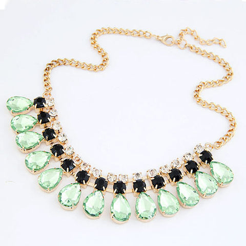 Gem statement Gold Choker Necklaces