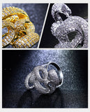 Party Gold Plated Cubic Zircon Fashion Rings