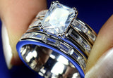 White Gold Filled Princess AAA CZ Zirconia Fashion Ring