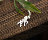 Gold Silver Beautiful Unicorn Horse Necklace