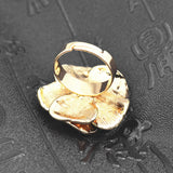 Austria Crystals Rose Flower Ring