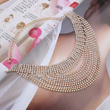 Chunky Crystal Multi Layer Choker Necklace