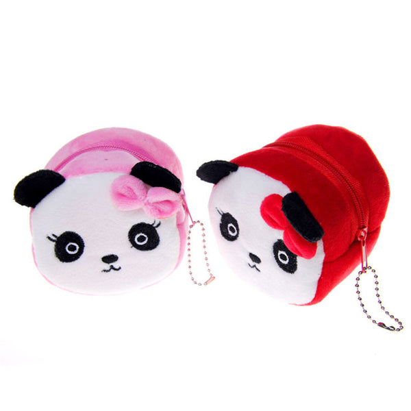 Cartoon Cat & Panda Plush Coin Change Purse (Free+Shipping)