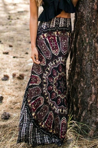 Summer Floral Vintage Boho Long Maxi Skirts