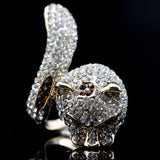 Gold Color Austrian Crystal Rhinestone Animal Fashion Rings