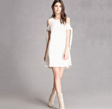 White Sleeveless Elegant Summer Dresses