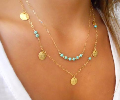 Simple Silver And Gold Fashion Necklace