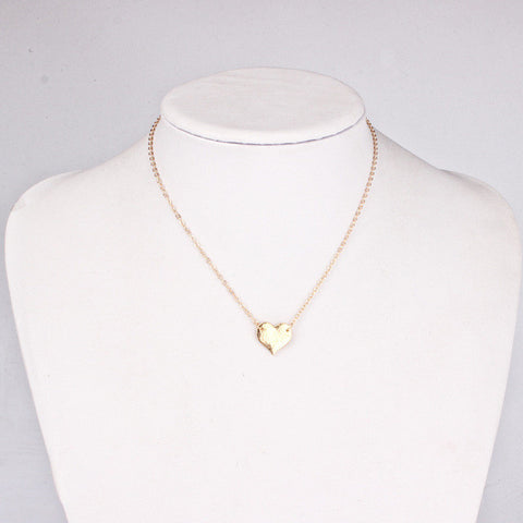 Trendy Little Gold Heart Necklaces