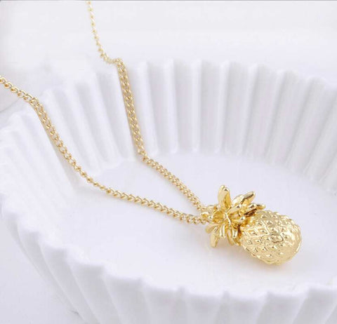 Tiny Pineapple Cute Charm Necklace