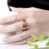 Rose Gold or Silver Color Pave Austrian Crystal 3D Cobra Snake Fashion Rings