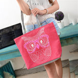 Owl Shoulder Canvas Bag