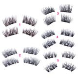 Professional 3D Allergy Free Magnetic Reusable Eyelashes (2 Pair)