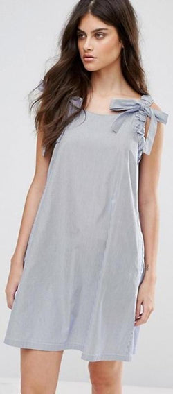 Chiffon Casual Sleeveless Gray Sweet Mini Dresses