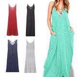 Boho Chiffon Floor Length Spaghetti Strap Maxi Dress