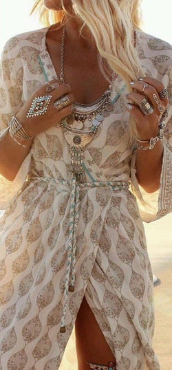 Boho Chiffon Long Maxi Dress