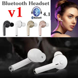 Bluetooth Earphone Wireless Stereo Headset Handsfree with Mic for iPhone