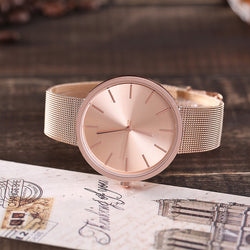 Silver & Rose Gold Mesh Watches