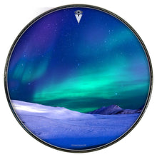 Aurura with snow graphic Visionary Drum head