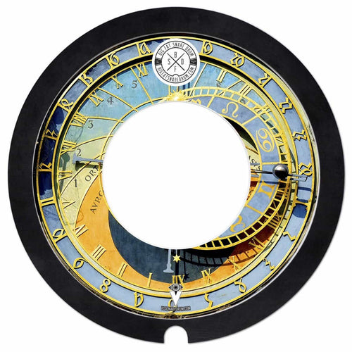 Big Fat Snare Drum with astrological clock Visionary Drum skin