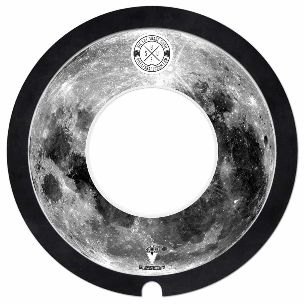 Big Fat Snare Drum Steve's Donut Medium Beefy Thud Snare with Visionary Drum Moon Graphic