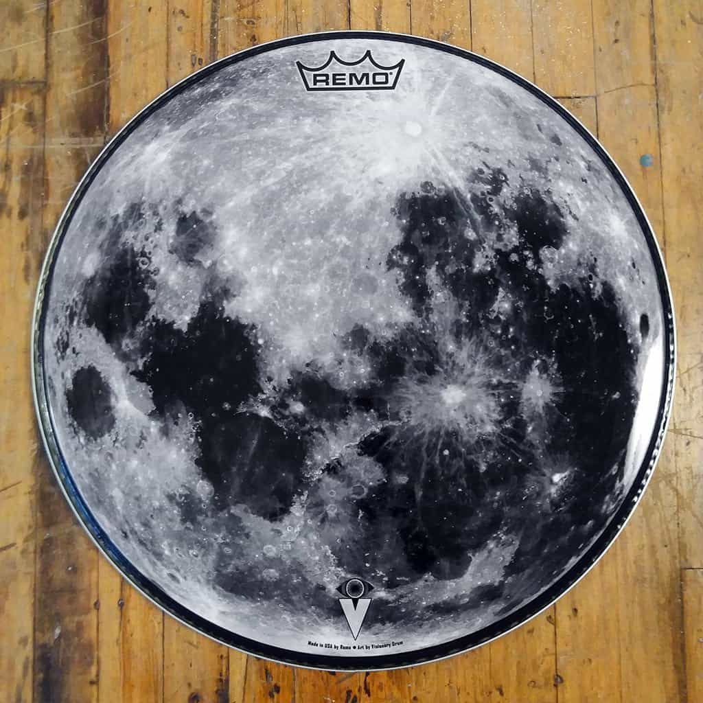 moon 22 graphic drum head by visionary drum powered by remo. Black Bedroom Furniture Sets. Home Design Ideas
