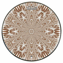 Abstract butterfly mandala Remo drum head by Visionary Drum