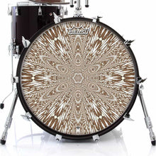 Abstract butterfly mandala Remo drum head on bass