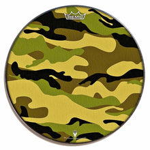 Camo Design Remo-Made Graphic Drum Head by Visionary Drum