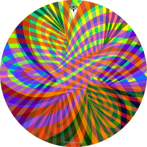 Color Stream rainbow design graphic drum skin by Visionary Drum