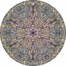 Cracked Wood Kaleidoscope graphic drum skin by Visionary Drum; photography and digital drum art