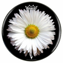 Daisy Design Remo-Made Graphic Drum Head by Visionary Drum; nature drum art