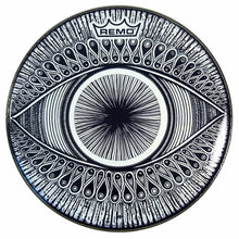 Eye Design Remo-Made Graphic Drum Head by Visionary Drum; original ink pattern from Justin Potts