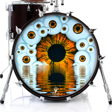 Eyeball design visionary drum skin on bass drum