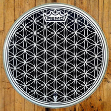 "14"" flower of life graphic drum head made by Remo."