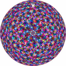"14"" Hyperfacet colorful geometric graphic drum skin for drum heads"