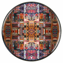 In the Portal Design Remo-Made Graphic Drum Head by Visionary Drum; abstract drum art