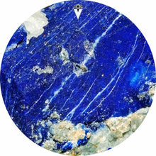 Lapis Lazuli design graphic drum skin by Visionary Drum; blue nature drum art